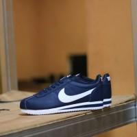 Sepatu Original - Nike Cortez Navy White - Biru Dongker Putih, 37-41