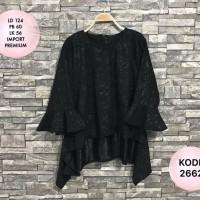 Atasan Brokat Kebaya LD 124cm Premium Baju Pesta Big Size Jumbo Muslim