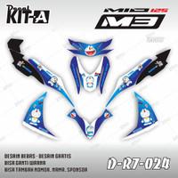 Decal Mio M3 125 Doraemon Biru  Striping Stiker Motor Mio M3 D-R7-024