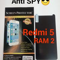 anti gores screen protector SPY hitam xiaomi redmi 5 (RAM 2)