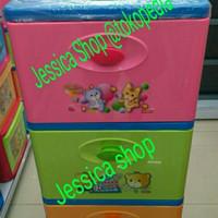 lemari / laci kontainer plastik lion star exso susun 3 (gojek only)