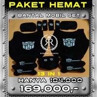 Bantal Mobil Transformers set / Sarung Jok Bantal Mobil set 13 in 1