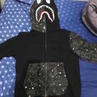 bape shark space camo hoodie