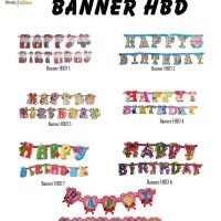 Banner Happy Birthday / Bunting Flag / Ulang Tahun