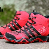 SEPATU SNEAKERS PRIA ADIDAS AX2 HIGH RED BLACK