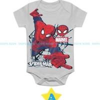 (3-18 bulan) DK 8A Romper Bayi Dope Kids Spiderman Grey Jumper Bayi