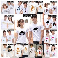 Pakaian Family 2Dewasa CPL Couple Pasangan Kaos Baju Sablon DTG Pria