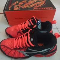 sepatu olahraga volly mitzuda light verza duo / merah hitam