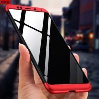 Xiaomi Redmi 5 Plus / Redmi 5+ Hard Case Armor 360 GKK 3in1 Full Cover - Hitam Merah
