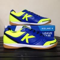 SEPATU FUTSAL KELME K-STRONG - ROYAL BLUE/LIME