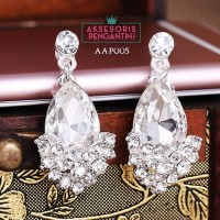 Aksesoris Anting Pesta Pengantin Putih l Perhiasan Wedding - AAP 005