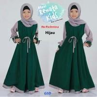 Baju Gamis Muslim Anak Cewek - Maxi Renata kids hijau-maxi nareta kids