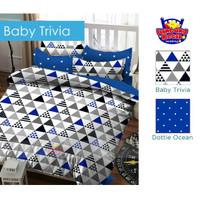 Set bedcover murah merk star baby trivia warna biru 180x200x20