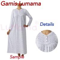DASTER GAMIS / LUMAMA / BAJU MUSLIM / DRESS / BAJU TIDUR / GAMIS KERUT