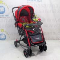 Pliko PK268 Grande 2in1 Baby Stroller Kereta Dorong Bayi & Ayunan Red