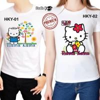 Baju / Kaos Dewasa Pria / Wanita / Unisex Hello Kitty