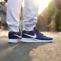 sepatu nike tanjun blue navy white biru dongker putih