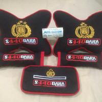 bantal mobil/carset profesi/bantal leher custom TNI polisi polri