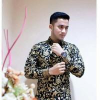 Hem Batik Kemeja Kantor Lengan Panjang Bunga Prada Murah BP012