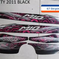 Stiker Striping Motor Yamaha Mio Sporty 2011 Hitam