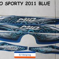 Stiker Striping Motor Yamaha Mio Sporty 2011 Biru
