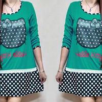 hello kitty blouse kaos baju atasan wanita anak remaja xl xxl jumbo
