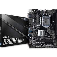 ASRock B360M-HDV (LGA1151, B360, DDR4) Support Coffee Lake