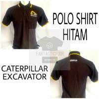 Polo Shirt Caterpillar Excavator Hitam