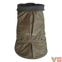 Baju Hewan Anjing Kucing- Simple Stylish Soft Coat Grey Import