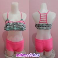 Bikini Malibu Hanky Pink Ethnic with Boxer