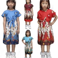 Dress Terusan Baju Batik Anak Perempuan 1938 2 - 14 Tahun TK SD ABG