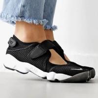 sepatu sandal nike air rift hitam putih premium grade ori men women - Hitam, 38