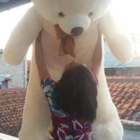 Boneka Beruang Teddy Bear Cream Super Jumbo Uk 1,5m