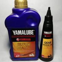 Paket Oli Yamalube Super Matic Dan Oli Gardan Nmax Xmax Aerox 155