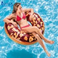 Ban Renang Nutty Chocolate Donut Tube 1.14m - INTEX 56262