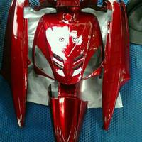 Cover body yamaha mio sporty full set warna merah marun