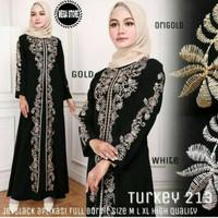 Abaya Gamis arab hitam / abaya turkey 213 / abaya hitam/ ABAYA