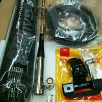 paket antena rig mobil/ht dual band plus kabel rg58, breket,konector