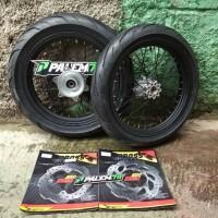 Wheelset CRF 150 L 17 110 & 130 - Paket Ban IRC Exato Supermoto CRF150
