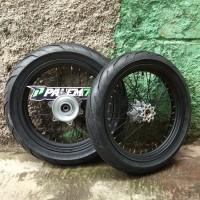 Wheelset Supermoto CRF 150 L - Paket Ban IRC Exato 17 110 & 130 CRF150