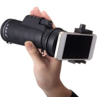 Universal 10x40 Hiking Tele Camera Lens Monocular Smartphone Holder