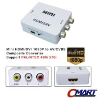 Converter HDMI to AV Audio Video RCA Adapter Konverter CON-AVHDAF3RCAF