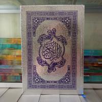 Alquran Cover Perak ukuran A4, Al-Quran Mushaf Besar