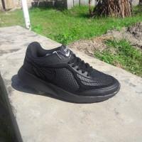 Sepatu Sekolah / Kerja Nike Khaisi Airmax Full Black / Full Hitam