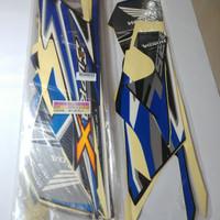 Stiker Bodi & Lis Body & Striping Supra X 125 R 2012 Hitam Biru