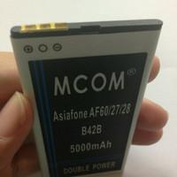 Baterai Asiafone AF60 / AF27 / AF28 B42B Double Power Mcom 5000Mah