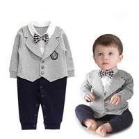Baju bayi laki-laki   Romper jas bayi   jumper jas dasi bayi