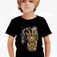 Kaos Baju Tshirt Anak Thanos Gauntlet Infinity War Hitam