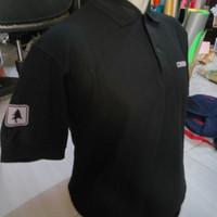 Kaos Polo Shirt Logo Consina Lengan Pendek Hitam