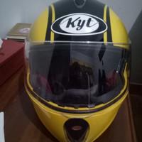 Helm fullface KYT rocket Black Yellow Muraah!!
